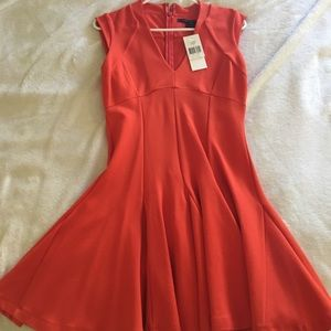 French Connection orange dress size 8 NWT